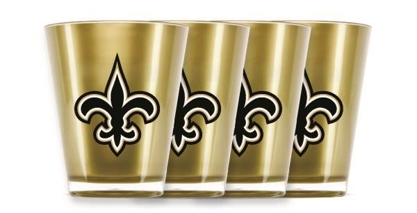 New Orleans Saints Shot Glasses 4 Pack Shatterproof NFL