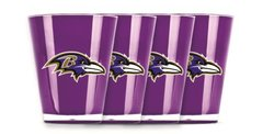 Baltimore Ravens Shot Glasses 4 Pack Shatterproof NFL