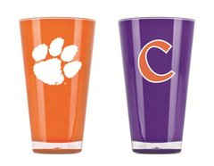 Clemson Tigers Tumblers Cups Home/Away Colors 2 Pack NCAA Licensed