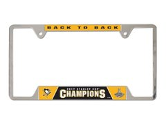 "Pittsburgh Penguins ""Back to Back"" Champions Chrome License Plate Frame NHL"