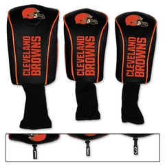 Cleveland Browns Golf Club Covers 3 pack NFL Licensed