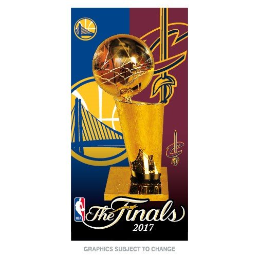 "Cleveland Cavaliers 2017 NBA Finals Beach Towel 30"" x 60"" NBA Licensed"