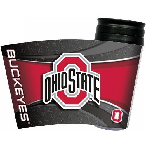 Ohio State Buckeyes Insulated Thermal Travel Mug Tumbler Coffee Cup NCAA