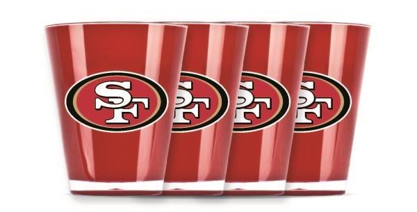 San Francisco 49ers Shot Glasses 4 Pack Shatterproof NFL