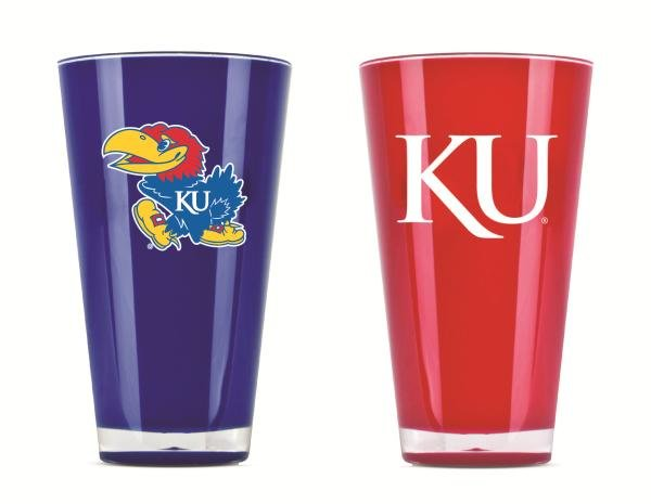 Kansas Jayhawks Insulated Tumbler Cups 2 Pack On Field Colors NCAA Licensed