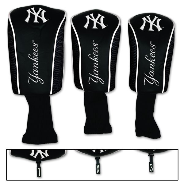 New York Yankees Golf Club Covers 3 pack MLB Licensed