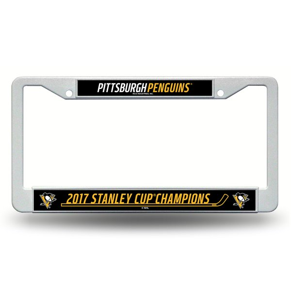 """Pittsburgh Penguins """"2017 Stanley Cup Champions"""" License Plate Frame NHL"""