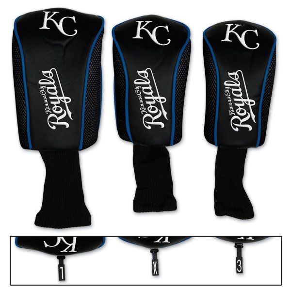 Kansas City Royals Golf Club Covers Headcovers 3 pack MLB Licensed