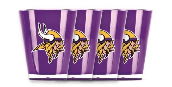 Minnesota Vikings Shot Glasses 4 Pack Shatterproof NFL