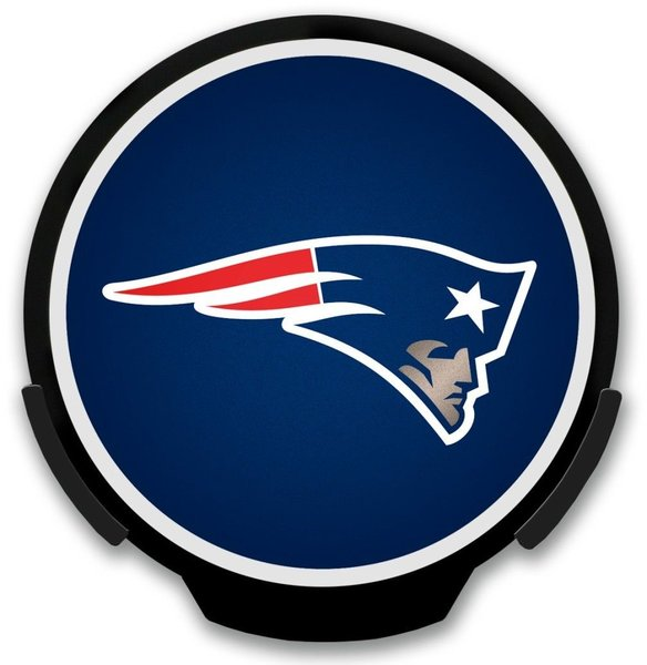 New England Patriots LED Window Decal Light Up Logo Powerdecal NFL