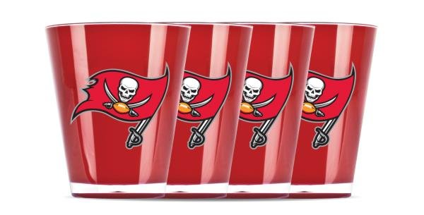 Tampa Bay Buccaneers Shot Glasses 4 Pack Shatterproof NFL
