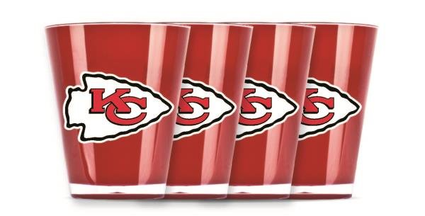 Kansas City Chiefs Insulated Shot Glasses 4 Pack NFL