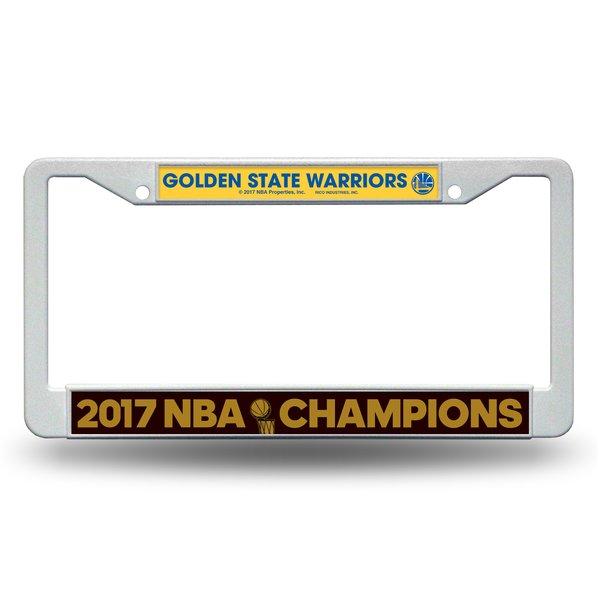 "Golden State Warriors ""2017 Finals Champions"" License Plate Frame NBA"