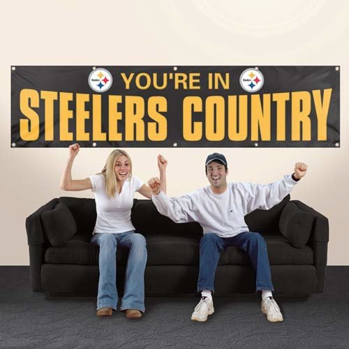 Pittsburgh Steelers 2' x 8' Wall Banner Flag NFL Licensed