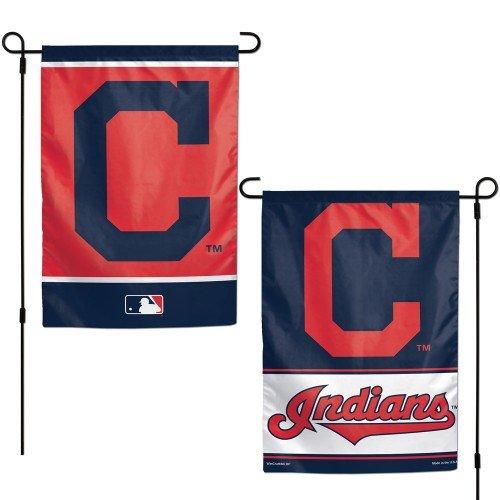 "Cleveland Indians 2 Sided Garden Flag 12"" x 18"" MLB Licensed"