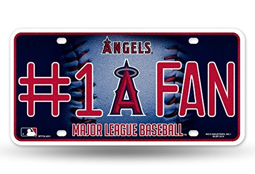 Anaheim Angels #1 Fan Metal License Plate Tag MLB Licensed