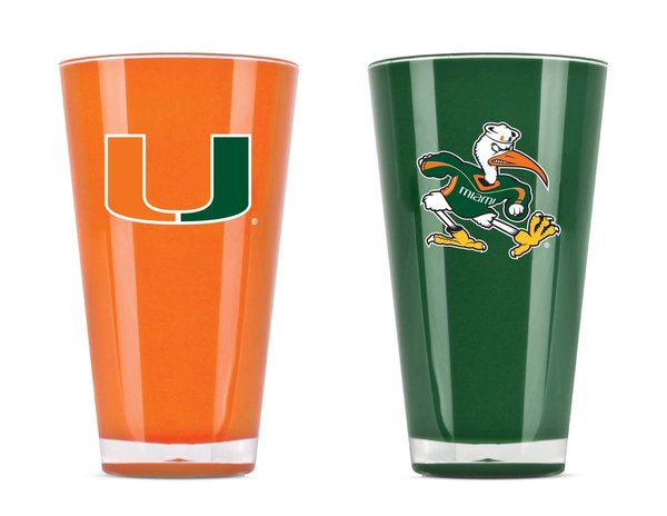 Miami Hurricanes Tumblers Home/Away Twin Pack NCAA