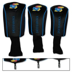 Kansas Jayhawks Golf Club Covers 3 pack NCAA Licensed