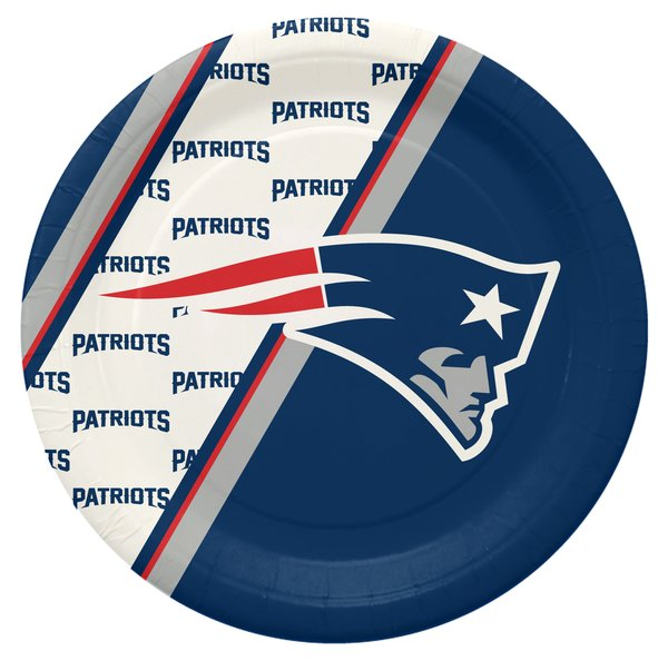 """New England Patriots 10"""" Disposable Paper Plates 20 Count Partyware"""