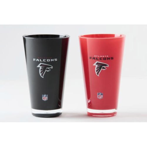 """Atlanta Falcons Acrylic Tumbler 2 Pack """"On field Colors"""" Insulated/Shatterproof NFL Licensed  FREE SHIPPING"""