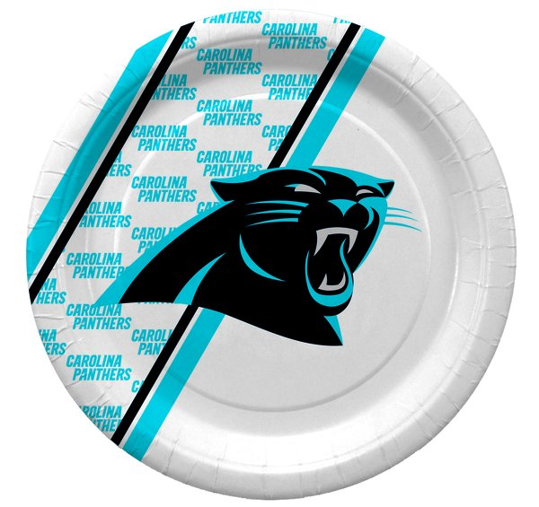 "NFL Carolina Panthers 10"" Disposable Paper Plates 20 Count"