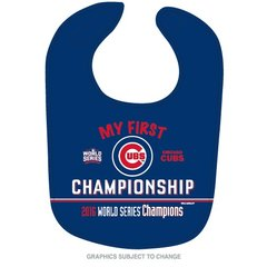 Chicago Cubs 2016 World Series Champions Baby Bib MLB Licensed