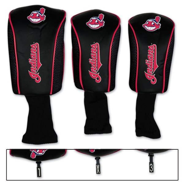 Cleveland Indians Golf Club Head Covers 3 pack MLB Licensed