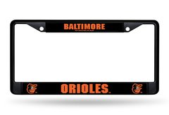 Baltimore Orioles BLACK Chrome Metal License Plate Frame Custom MLB Licensed