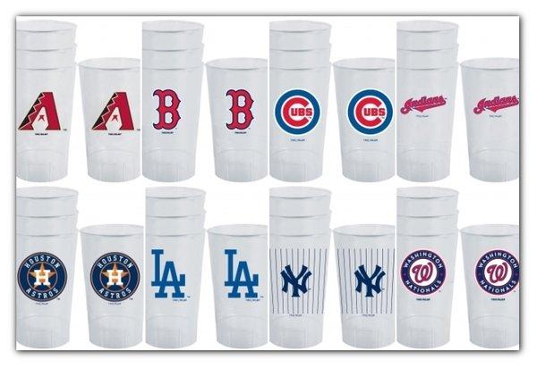 MLB Acrylic Tumblers 4 Pack Diamondbacks Red Sox Cubs Indians Astros Dodgers Yankees Nationals