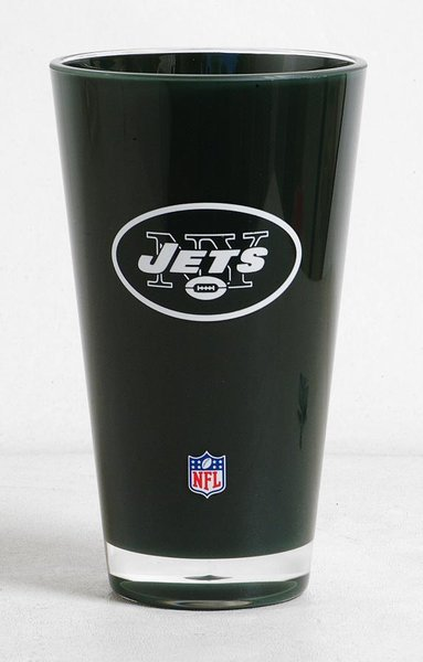 New York Jets Round Tumbler Cup 20oz Insulated/Shatterproof NFL