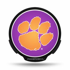 Clemson Tigers LED Window Decal Light Up Logo Powerdecal NCAA