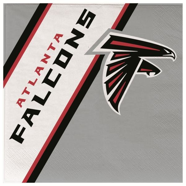 Atlanta Falcons Disposable Paper Napkins 20 Count Partyware