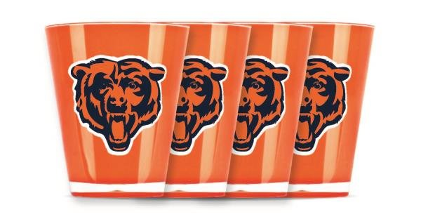 Chicago Bears Shot Glasses 4 Pack Shatterproof NFL