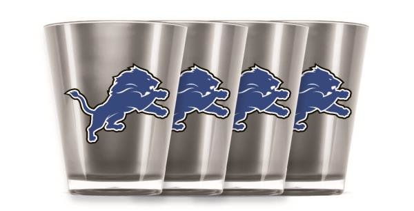 Detroit Lions Shot Glasses 4 Pack Shatterproof NFL