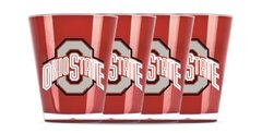 Ohio State Buckeyes Shot Glasses Shatterproof 4 Pack NCAA Licensed