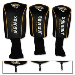 Jacksonville Jaguars Golf Club Covers 3 pack NFL Licensed