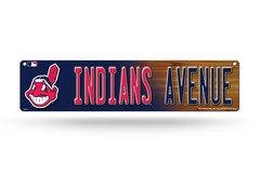 "Cleveland Indians ""Avenue"" 4""x16"" Street Sign MLB Licensed"