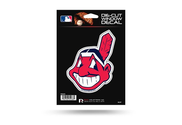"""Cleveland Indians Window Decal 4"""" MLB Licensed"""