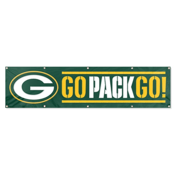 Green Bay Packers 2' x 8' Wall Banner Flag NFL Licensed