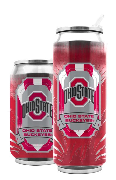 Ohio State Buckeyes Double Wall Insulated Stainless Steel Thermo Can Travel Tumbler NCAA