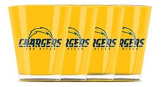 San Diego Chargers Shot Glasses 4 Pack Shatterproof NFL