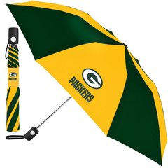 "Green Bay Packers Umbrella 42"" Automatic Push Button NFL Licensed"