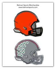 Cleveland Browns and OSU Buckeyes Chrome Metal Emblem NFL & NCAA Licensed