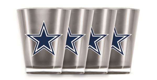 Dallas Cowboys Shot Glasses 4 Pack Shatterproof NFL