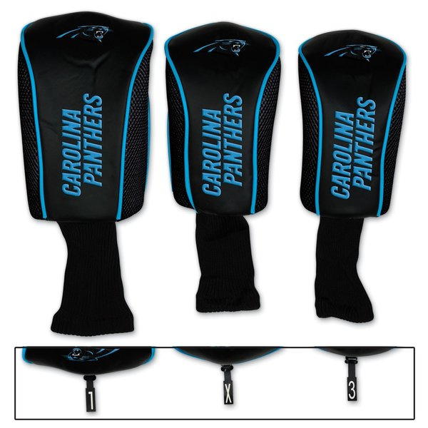 Carolina Panthers Golf Club Covers 3 pack NFL Licensed