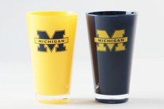 Michigan Wolverines Insulated Tumbler Cups 2 Pack Home/Away NCAA
