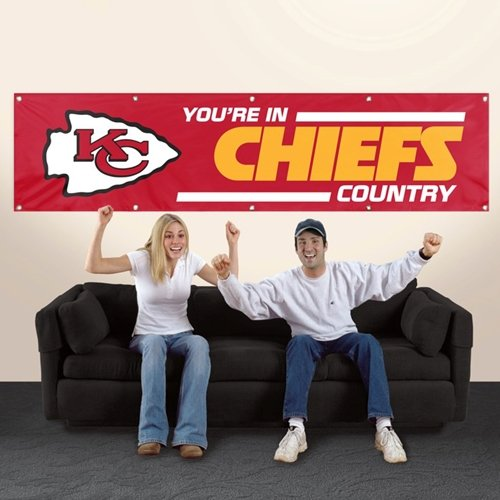 Kansas City Chiefs 2' x 8' Wall Banner Flag NFL Licensed