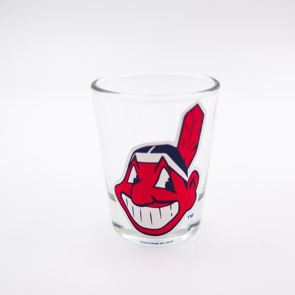 Cleveland Indians Chief Wahoo Shot Glass MLB Licensed