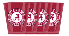 Alabama Crimson Tide Shot Glasses 4pack Shatterproof NCAA