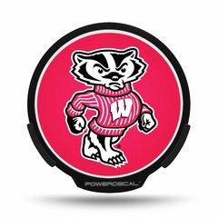 Wisconsin Badgers LED Window Decal Light Up Logo Powerdecal NCAA